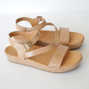 Kork Ease Leather Strappy Sandals 10M